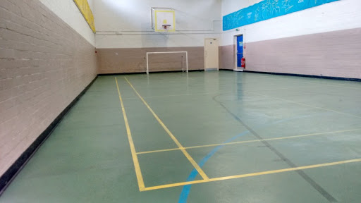 The empty sports hall.