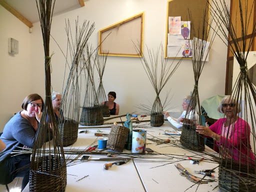 Artists using the facilities at the Branksome Community Centre