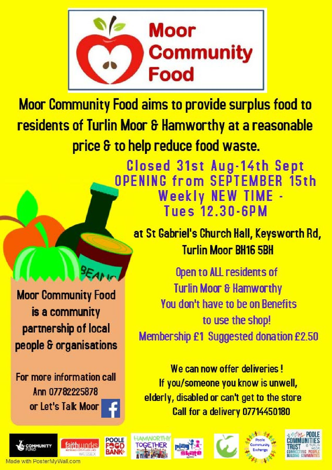 Delivery Service Now Offered by Moor Community Food Store