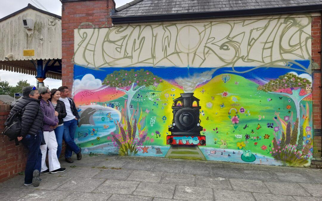 Mind the Gap artwork project at Hamworthy Station